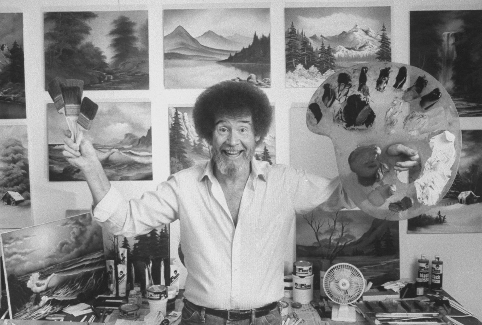 Online: Paint with Bob Ross